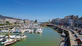 Luftfoto von Hafen Le Pouliguen in der Loire Atlantique stockfotografie