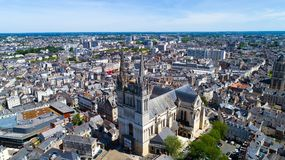 Luftfoto von Heilig-Maurice-Kathedrale verärgert herein lizenzfreies stockfoto