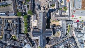 Luftfoto von Heilig-Maurice-Kathedrale verärgert herein lizenzfreies stockbild
