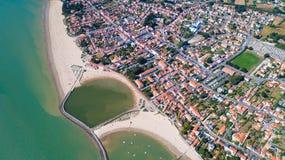 Luftfoto von La Bernerie en Retz lizenzfreies stockbild