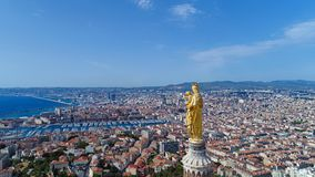 Luftfoto von Marseille-Stadt stockfoto