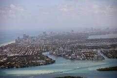 Luftfoto von Miami Stockfotos