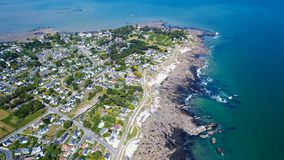 Luftfoto von Penchateau-Punkt in Le Pouliguen lizenzfreie stockbilder