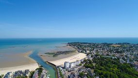 Luftfoto von Penchateau-Punkt in Le Pouliguen stockfotos