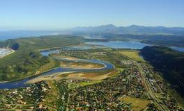 Luftfoto von Sedgefield, Garten-Weg, Südafrika Stockfotos