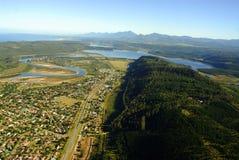 Luftfoto von Sedgefield, Garten-Weg, Südafrika lizenzfreies stockbild