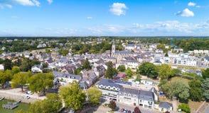 Luftfoto von Suce-sur Erdre in der Loire Atlantique stockfoto