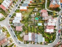 Luftfoto wenigen Viertels stockfotografie
