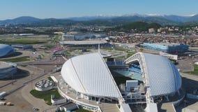 Luftfußballstadion Fischt Sochi, Adler, Russland, olympisches Fackel- und Fisht-Stadion gebaut für Winterolympiade Lizenzfreies Stockfoto