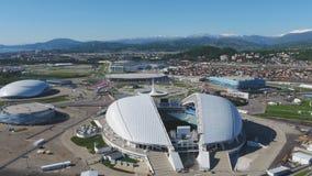 Luftfußballstadion Fischt Sochi, Adler, Russland, olympisches Fackel- und Fisht-Stadion gebaut für Winterolympiade Lizenzfreie Stockfotografie