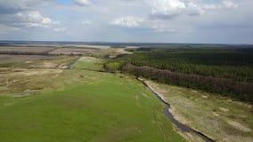 Luftgesamtlänge der Natur in Ukraine stock footage