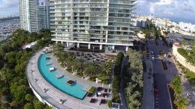 Luftgesamtlänge des Miami Beachs stock footage