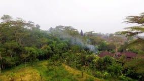 Luftgesamtlänge und Brummenvideo von Besakih-Tempel auf Bali-Insel stock video