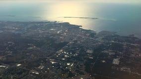 Luftgesamtlänge von Florida-Küstenlinie stock video