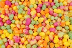 Luftgestoßener Mais-und Reis-Süßigkeiten-Hintergrund stockfotos