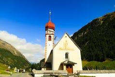 Lufthål i höst, by i Oetstal (Österrike) Royaltyfri Foto