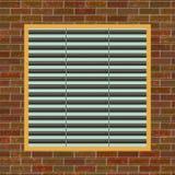 lufthålvägg för tegelsten c Fotografering för Bildbyråer
