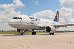 Lufthansa A319 royalty-vrije stock foto's