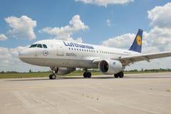 Lufthansa A319 royalty-vrije stock afbeelding