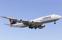 Lufthansa 747-8 Photo stock