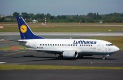 Lufthansa 737 Lizenzfreies Stockbild