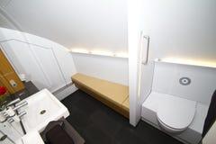 Lufthansa A380 toilet Stock Afbeelding
