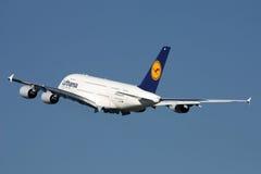 Lufthansa Aerobus A380 Fotografia Stock