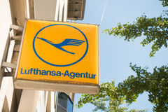 Lufthansa Agentur Royalty Free Stock Photography