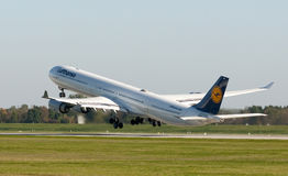 Lufthansa Airbus Lizenzfreies Stockbild
