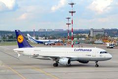 Lufthansa Airbus A320 Fotos de Stock Royalty Free