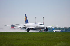 Lufthansa Airbus A319 Imagens de Stock Royalty Free