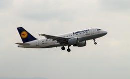 Lufthansa Airbus A319 Imagens de Stock Royalty Free