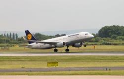 Lufthansa Airbus A319 Imagem de Stock Royalty Free