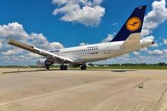 Lufthansa Airbus A319 Lizenzfreie Stockbilder