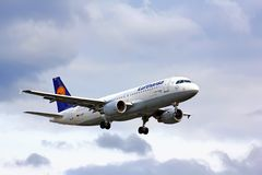 Lufthansa Airbus A320 Stockbild