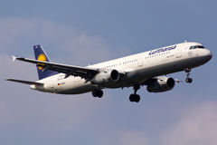 Lufthansa Airbus A321 Foto de Stock Royalty Free