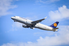 Lufthansa Airbus A320 Fotografia Stock Libera da Diritti