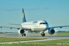 Lufthansa Airbus A320 Foto de Stock
