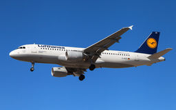 Lufthansa Airbus A320 Imagem de Stock Royalty Free