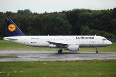 Lufthansa Airbus A320 Fotografía de archivo libre de regalías