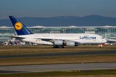 Lufthansa Airbus A380 Fotos de archivo