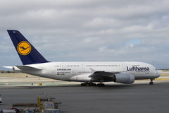 Lufthansa Airbus A380 Stock Photo