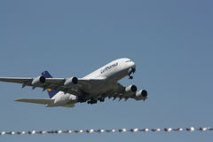 Lufthansa Airbus A380-800. The biggest airplane from the Airbus family, fly on duty for Lufthansa Stock Photography