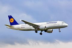 Lufthansa Airbus A320 Stock Photography