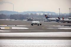 Lufthansa Airbus A321-200 D-AIDE no aeroporto de Munchen Imagens de Stock