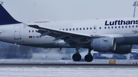 Lufthansa Airbus A319-100 D-AILA stock video footage