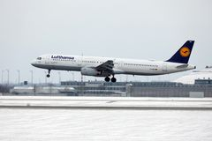 Lufthansa Airbus A321-100 D-AIRO took off from Munchen Airport Royalty Free Stock Image