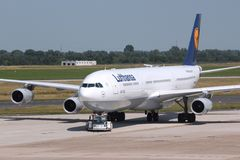 Lufthansa Airbus A340 Stock Photography