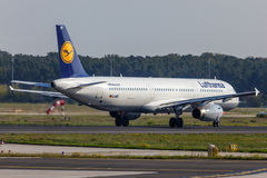 Lufthansa Airbus A321 at the Frankfurt Airport Stock Images