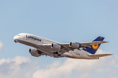 Lufthansa Airbus A380-800 Royalty Free Stock Photo